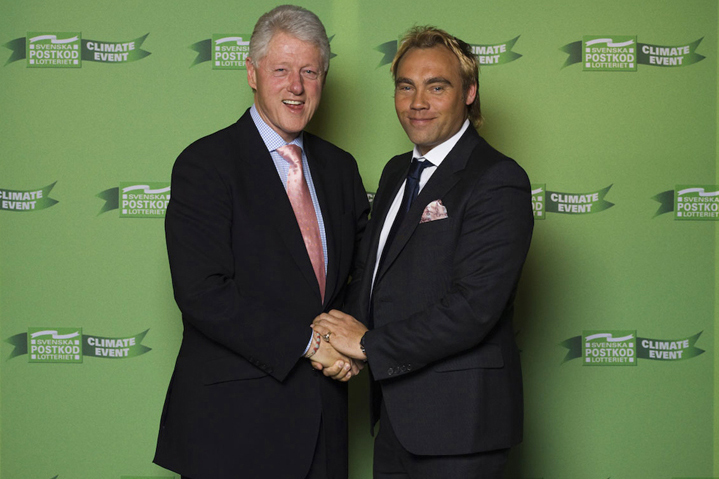Johan Ernst & President Clinton