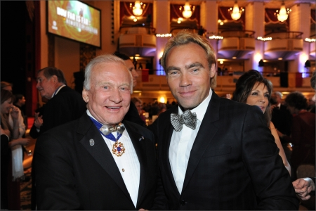 Astronaut Buzz Aldrin and Johan Ernst