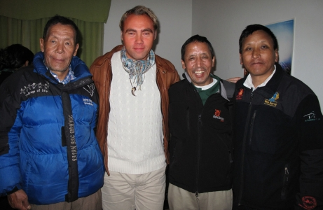 Discussing Everest with Nepalese legends