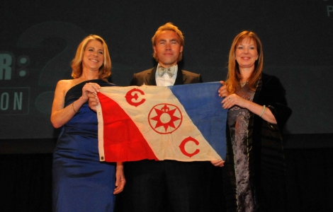 Explorers Club awarding Johan Ernst for Pole2Pole